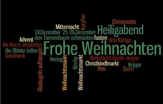 weihnachten wordle deutschkunterbund 39 s blog